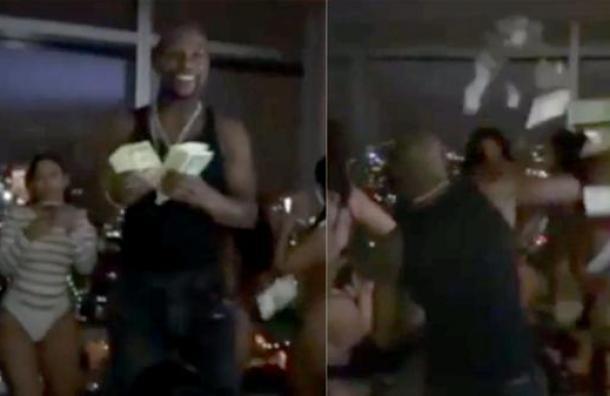 Mujeres sin ropa y lluvia de dinero: otro video obsceno de Floyd Maywheather