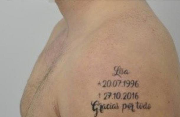 El fugitivo que se tatuó los detalles del crimen que cometió