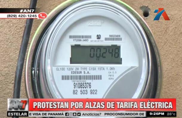 Protestas por alzas de tarifa eléctrica