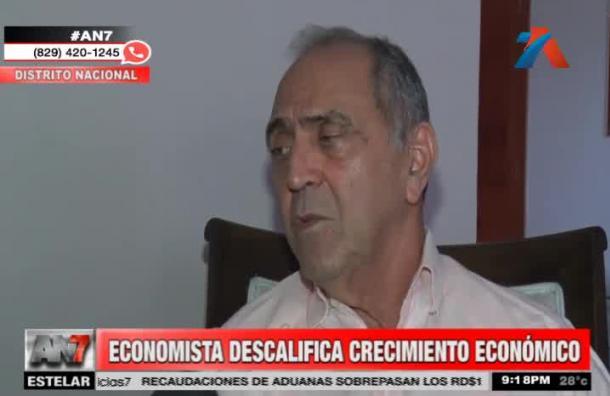 Economista descalifica crecimiento económico