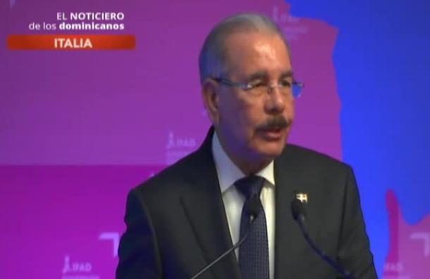 Presidente Danilo Medina indicó que se han reducido las cifras de pobreza
